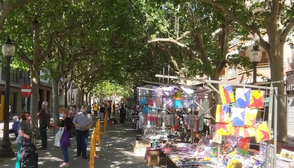 Imagen de archivo del mercado semanal de Solsona.