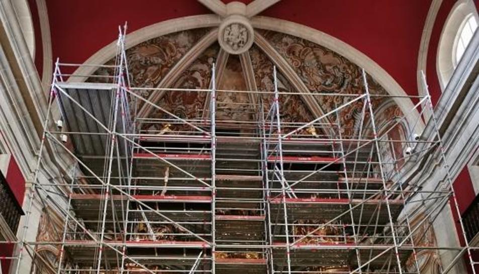 Restauran el retablo del Santuario de Riner