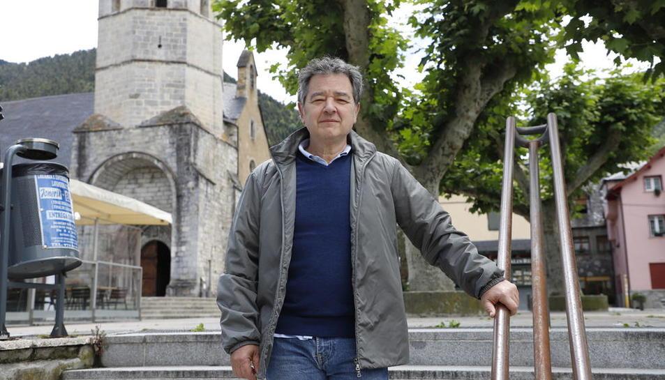Ambròs Barberà, miembro del Grèmi d'Ostalaria dera Val d'Aran.