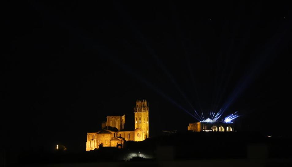 La Seu Vella ocultó el espectáculo lumínico, enmarcado dentro del programa Fase Cultura.