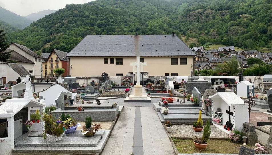 Imagen del cementerio de Bossòst, que ahora se ampliará.