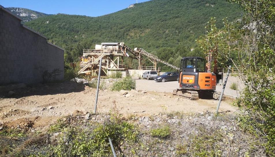 Les obres d'ampliació del cementiri del Pont de Suert.