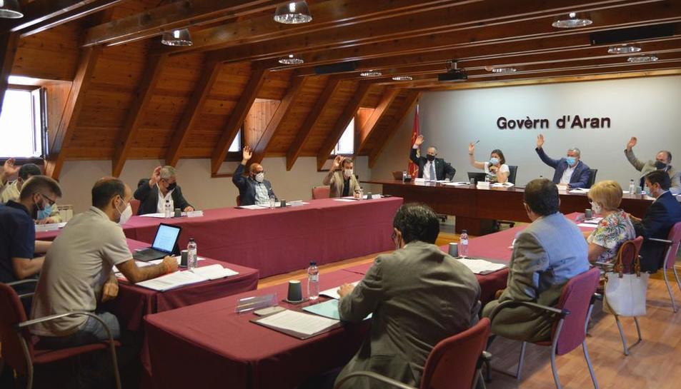 Pleno extraordinario de ayer del Conselh Generau d'Aran.