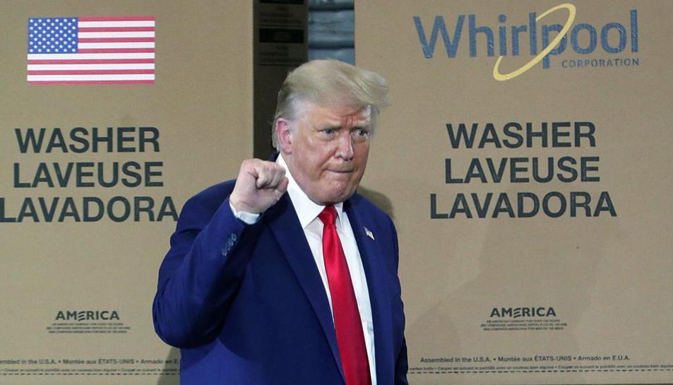 El presidente de los Estados Unidos, Donald Trump, el jueves.