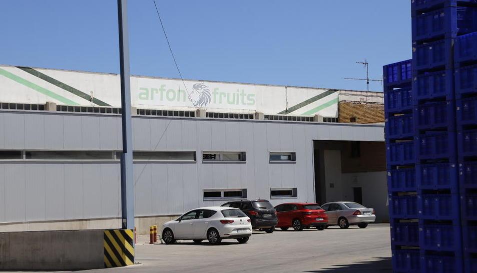 Arfon Fruits de Aitona ha estado cerrada por orden de la Generalitat.