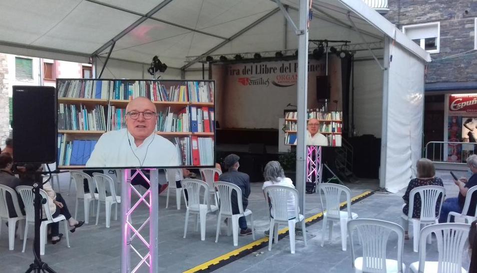 L'exconseller Lluís Puig va obrir el certamen de forma telemàtica.