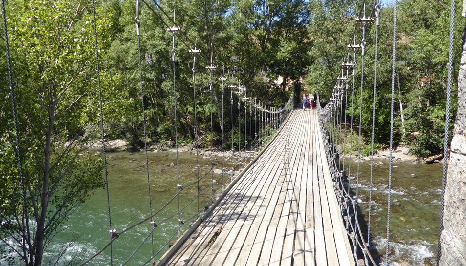El pont de fusta de Rialp