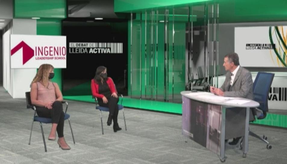 Un momento de la grabación del programa en Lleida TV.