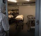 Imatge d'un crematori de Girona amb morts per Covid.