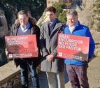 Víctimes d'abusos, en una protesta a l'abadia de Montserrat.
