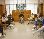 Impulsors i joves participants en l'acció del consell comarcal sobre l'addicció a les tecnologies.