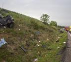 L'accident a la C-14 a Ciutadilla, amb tres ferits.