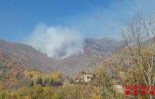 El fuego de La Guingueta calcina más de 300 hectáreas