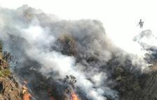 El fuego de La Guingueta, 20 km de largo y 556 hectáreas