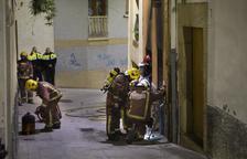 Herido por inhalación de humo en un incendio en una casa de Sanaüja