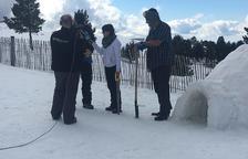 'Ara Lleida blanca' visita l'estació d'esquí de Tuixent-la Vansa