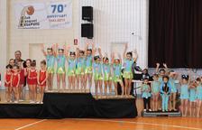 La Trobada de rítmica de Bellpuig reuneix 300 gimnastes