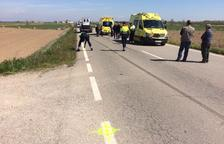 Muere un ciclista atropellado en Vilanova de Bellpuig