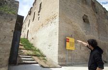 El castillo de Maldà gana en visibilidad y un nuevo acceso tras derruir parte de un muro