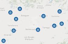 MAPA. Les inversions de Cultura al patrimoni de Lleida