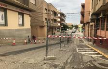 Obres per limitar el trànsit de cotxes al centre d'Alcarràs