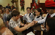 Corbins honra santa Quitèria per acabar la festa major