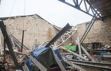Se derrumba parte del tejado de un almacén municipal en Montgai