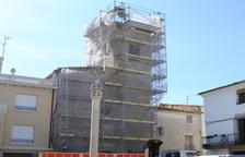 Barbens reforma la façana i el campanar de l'església