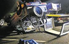 Acusen un xòfer ebri de causar un accident amb quatre ferits a Corbins