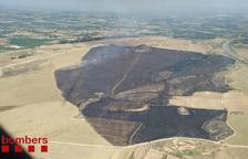 Calcinades 95 hectàrees agrícoles en dos incendis a Artesa de Lleida
