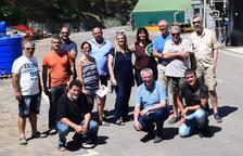 Visita a la planta de tractament de purins d'Almenar