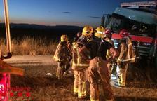 Aparatós accident amb un ferit greu a l'autovia a Vilagrassa
