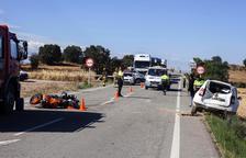 Un veí de Guissona, quart motorista mort en dinou dies a les carreteres de Lleida