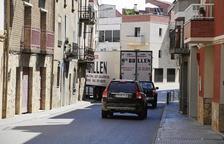 Seròs desvia els camions pels carrers a l'espera de l'anhelada variant