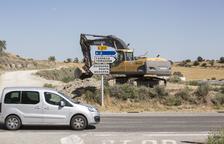 Obras en la L-310 de Guissona a Tàrrega para reducir su elevada siniestralidad