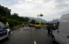 Un xoc a la carretera N-260 a Montferrer costa la vida a un motorista, el desè aquest any