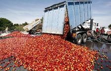 Protesta d'agricultors a Perpinyà contra fruita espanyola