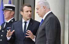 Macron insisteix a Israel en la necessitat de dos estats