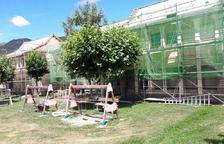Reformen la teulada i una aula del col·legi de Vilaller