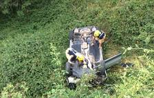 Herido leve al caer desde 4 metros con su coche en La Vall de Boí