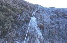Restableixen el cable de seguretat del camí de Còth deth Hòro