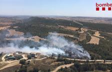 Calcinadas 1,2 hectáreas en un incendio declarado en Sanaüja