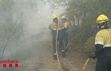 Desalojan media docena de masías por un fuego entre Vinaixa y L'Albi
