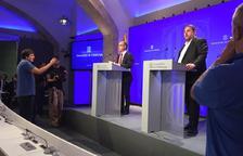La roda de premsa posterior a la reunió del Govern.