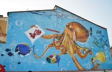 Un dels murals del Torrefarrera Street Art Festival que opten al premi de votació popular.