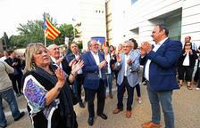 El president de la Diputació, Joan Reñé, ha acompanyat els alcaldes.