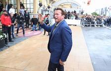 Arnold Schwarzenegger, estrella mediática del 65 Festival de San Sebastián