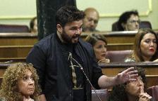 El portaveu adjunt d'ERC, Gabriel Rufián, durant una intervenció la setmana passada en la sessió de control al Govern al Congrés.