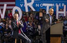 Obama torna a fer campanya des que va deixar la Casa Blanca
