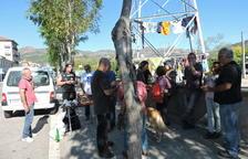 Mobilització a la Pobla contra la MAT del Pallars